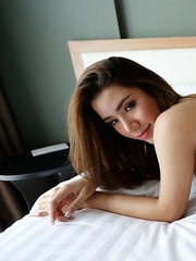 25yo beautiful Thai ladyboy  Peach gives blowjob and jerks off