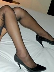 Sexy Thai tgirl in black stockings
