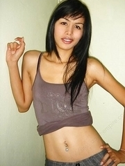 Brunette Asian ladyboys